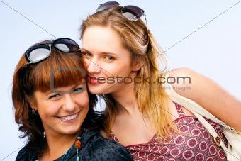 Beautiful young women posing