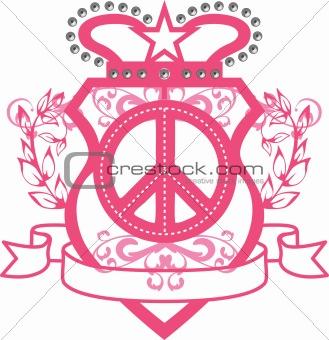 classic girl peace emblem