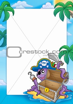 Frame with pirate octopus