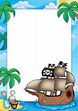 Frame with pirate ship