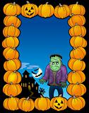 Halloween frame with Frankenstein