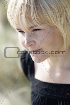 Portrait of determined woman.