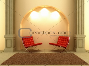 3D Interiors - Seat under the arc