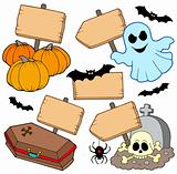 Halloween wooden signs collection