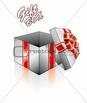 3D Open Gift Box