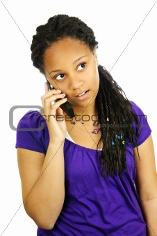 Teen girl with mobile phone
