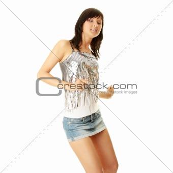 Beautiful sexy woman dancing