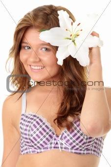 Beautiful nice female with health skin