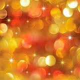 Golden and red Christmas background