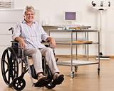 Senior woman sitting in wheelchair