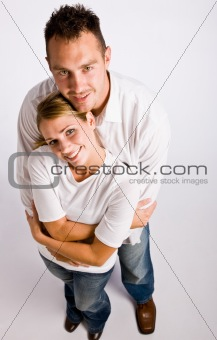 Couple hugging