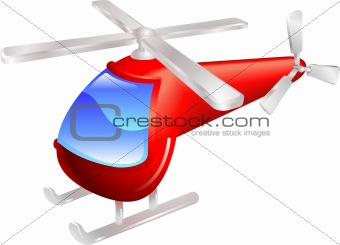 Helicopter vector illustration