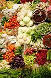 Asian fresh vegetables market