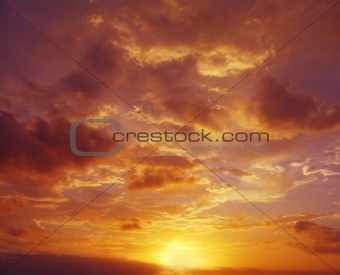 sky at dusk with clouds