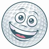 Cartoon Golf Ball
