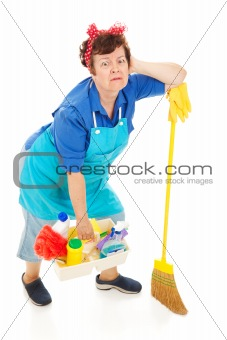 Cleaning Lady - Exhausted