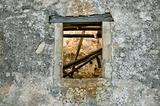 weathered wall window