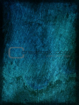 Background blue wood texture with scratches