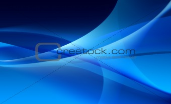 Abstract blue background of waves / veils texture