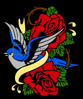 swallow and bird tribal emblem