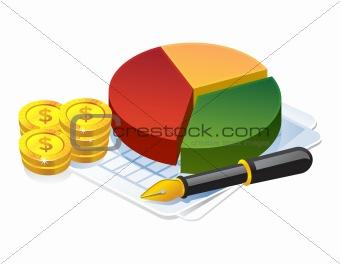 Business profit pie graph