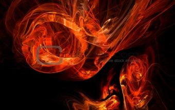abstract flame background 2