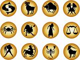 set of zodiac buttons