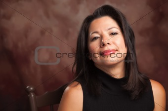 Attractive Hispanic Woman Studio Portrait.