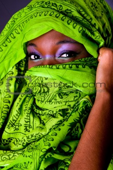 African woman with scarf