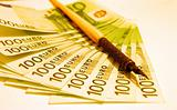 Euro Bill & Old Pen