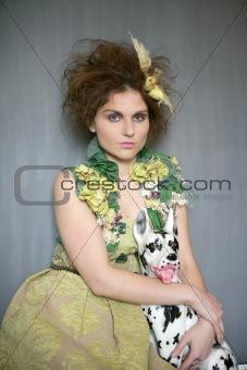 portrait of vanguard modern fashion woman