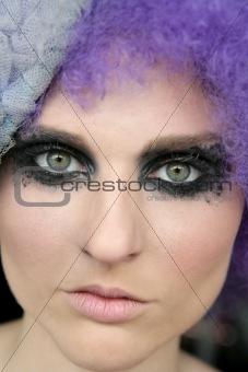 Black makeup eye shadows model