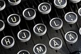 Antique typewriter keys.