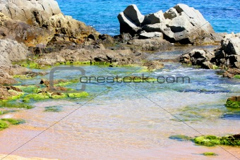 beach in Lloret de Mar (Spain)