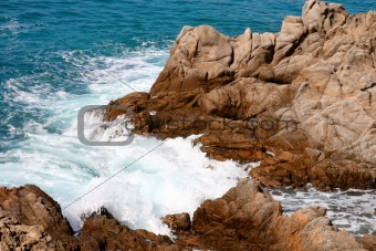 Costa Brava landscape near Lloret de Mar (Spain)