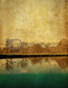 old-fashioned artistic landscape