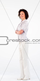Beautiful businesswoman with crossed arms