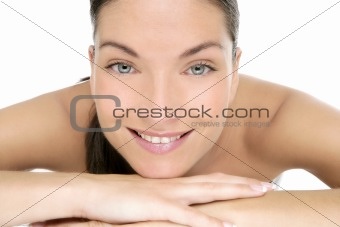 Beauty of clean beautiful woman portrait