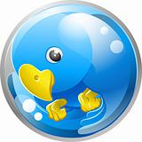Blue bird twitter ing icon
