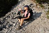 Thirsty hiker