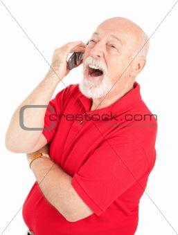 Cellphone Senior - Laughing