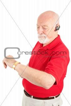 Cellphone Senior - Running Late