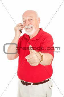 Cellphone Senior - Thumbsup