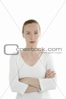 Beautiful redhead business woman portrait
