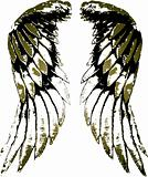 tribal bird wing illustration