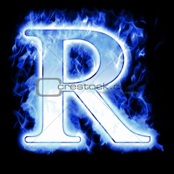 R Letter In Blue Fire Image 2054280: Cold Ic...