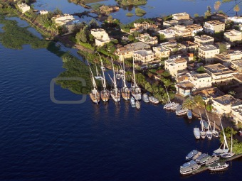 Aerial View of the Nile