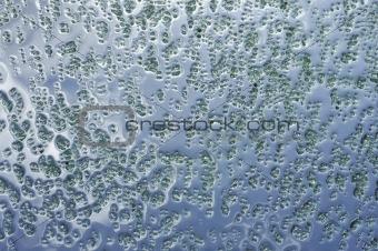 Green crystals of bath salt
