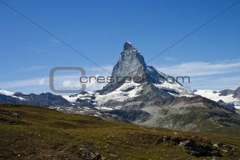 Matterhorn mountain in Zermatt, Switzerland