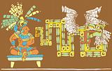 Mayan King and Kukulcan